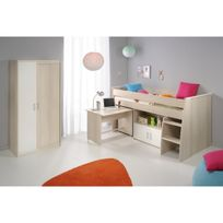 Altobuy - Willy - Lit Combiné + Armoire 2 Portes