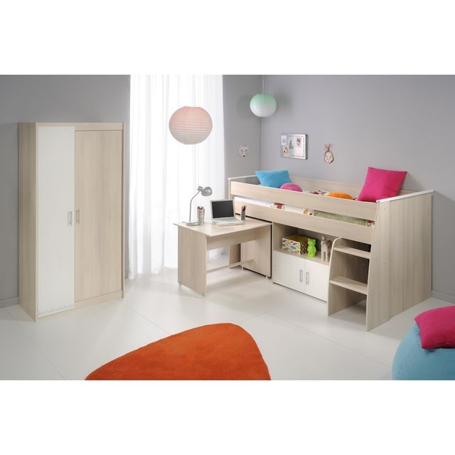 Altobuy Willy - Lit Combiné + Armoire 2 Portes