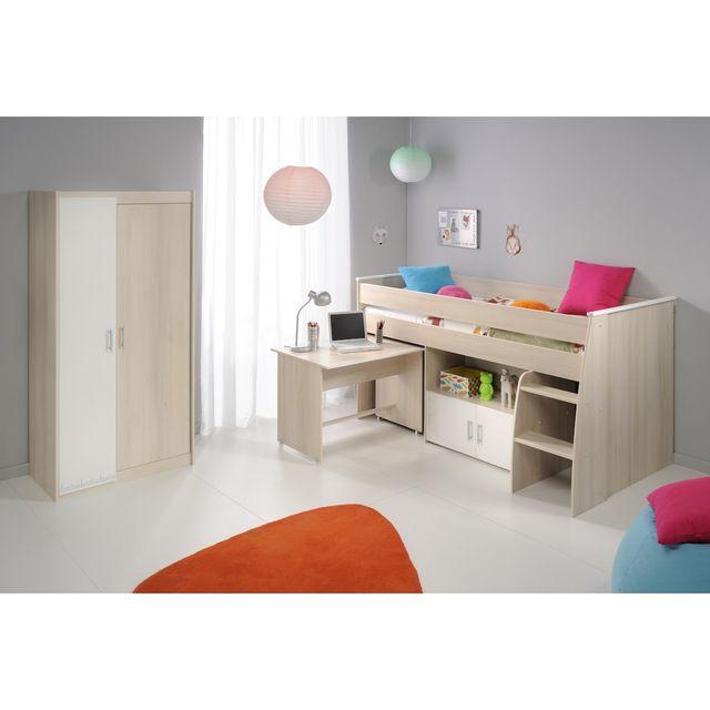 altobuy willy lit combin armoire 2 portes beige pas cher achat vente chambre enfant. Black Bedroom Furniture Sets. Home Design Ideas