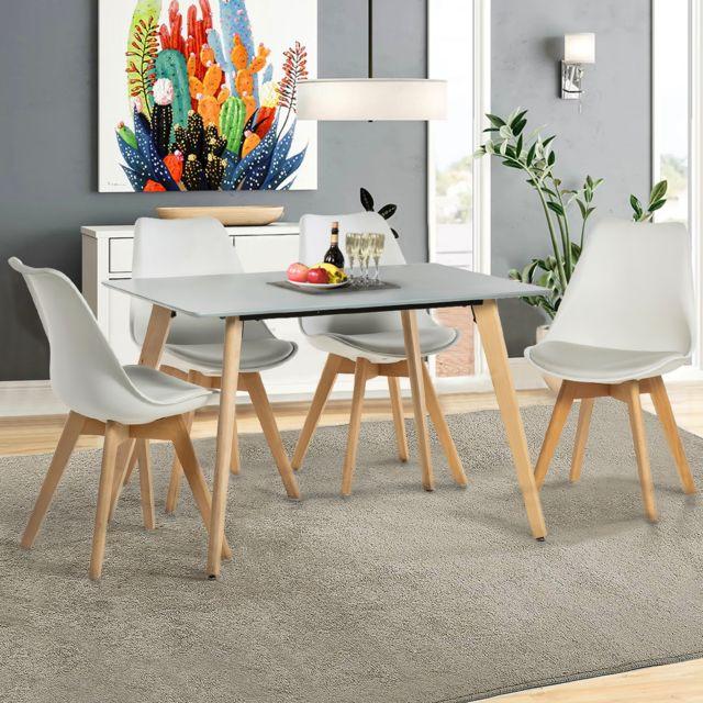 Mobilia Ensemble Table A Manger Rectangulaire Et 4 Chaises
