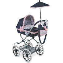 Decuevastoys - Poussette pour poupée poignée haute parapluie et sac pliable