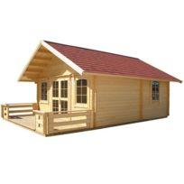 Luoman - Chalet jardin bois Lillevilla 221 - 28.50 m² - 5,00 x 5,70 x 3.72 m - 45 mm