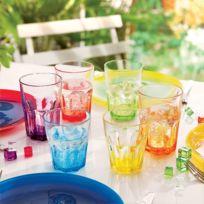 Luminarc - Set de 6 Verres Short Drink 30 cl America Crazy Colors