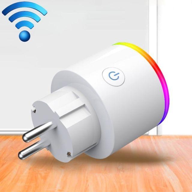 wewoo prise electrique connect e 15a wifi ue plug power adapter statistiques de l 39 lectricit. Black Bedroom Furniture Sets. Home Design Ideas