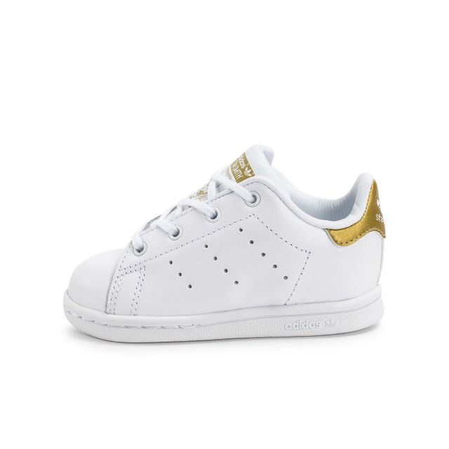 adidas originals stan smith b b blanche et or pas cher achat vente chaussures chaussons. Black Bedroom Furniture Sets. Home Design Ideas
