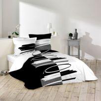 Douceur D'INTERIEUR - Housse de couette Versus 240x260cm avec taies d'oreillers 100% coton 57fils/cm²
