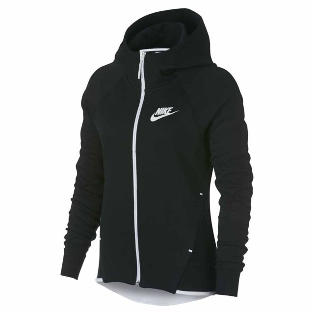 213a0be64cb15 Nike - Sweat Sportswear Tech Fleece Windrunner - 930759-011 - pas cher  Achat / Vente Sweat femme - RueDuCommerce