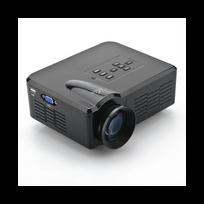 Auto-hightech - Mini Projecteur Led 80 Lumen, 1080p, image 30 à 100 pouces, Hdmi, Usb, Av, Tv, Vga Noir