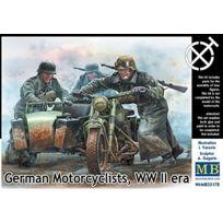 Master Box - Masterbox 1:35 - German Motorcyclists, Wwii Era