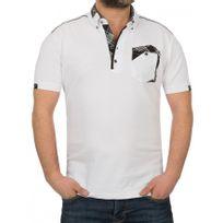 Beststyle - Polo homme elasthane blanc