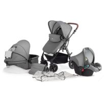 Kinderkraft - Poussette 3 en 1 bébé combinée multifonctions avec siège auto & accessoires Moov | Gris