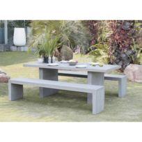 Table jardin fibre ciment - catalogue 2019 - [RueDuCommerce - Carrefour]
