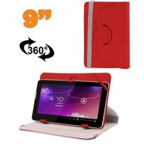 Yonis - Housse universelle tablette 9 pouces protection support 360° Rouge