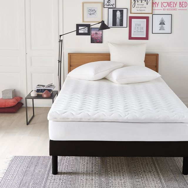 Mylovelybed My Lovely Bed - SurMatelas Mémoire de Forme 90x190/200 cm - Epaisseur 5cm - Déhoussable - Mousse Viscoélastique Haute de