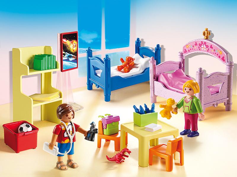 PLAYMOBIL - Chambre d\'enfants avec lits superposés - 5306 - pas cher ...