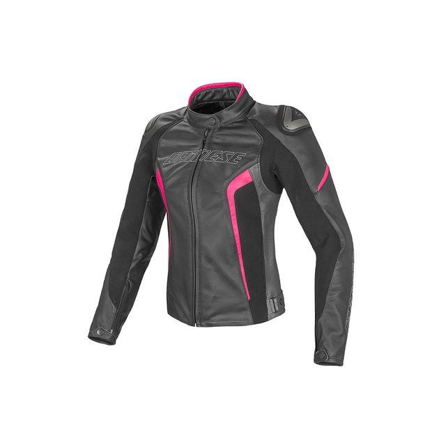 Dainese - Blouson Lady Racing D1 Noir Rose - pas cher Achat   Vente Blouson  moto - RueDuCommerce d412f145f61e