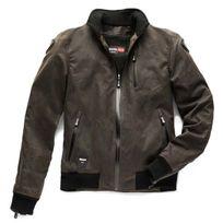 Blauer - blouson moto textile Indirect homme coton huilé imperméable hiver été bronze