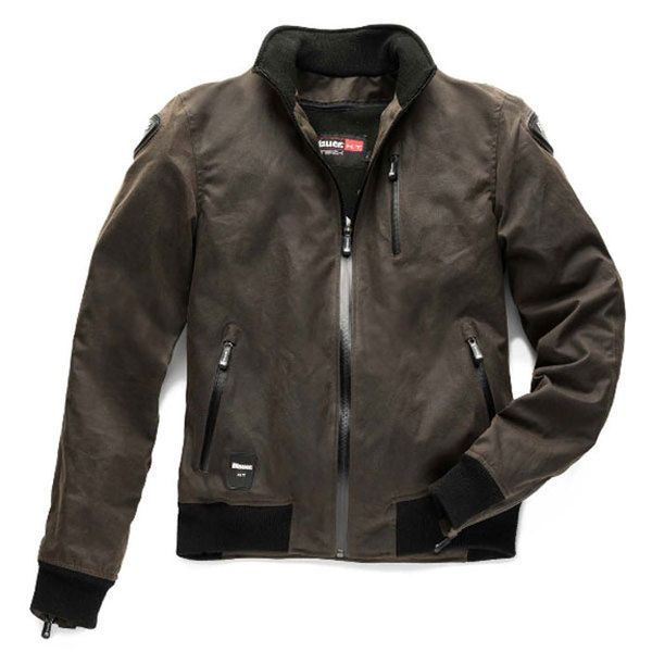 blauer blouson moto textile indirect homme coton huil. Black Bedroom Furniture Sets. Home Design Ideas