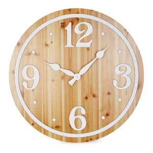 alin a blanca horloge murale couleur bois pas. Black Bedroom Furniture Sets. Home Design Ideas