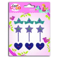 Teo & Zina - Stickers Princesses : Paillettes et Strass