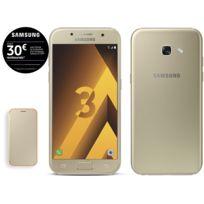 Samsung - Galaxy A3 2017 - Or + Neon Flip Cover Galaxy A3 2017 - Or