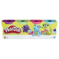 Playdoh - Play-doh 4 Pots Couleurs Claires - Violet. vert. rose. bleu