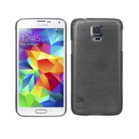Kabiloo - Coque ultra fine effet métallisé pour Samsung Galaxy S5 coloris noir