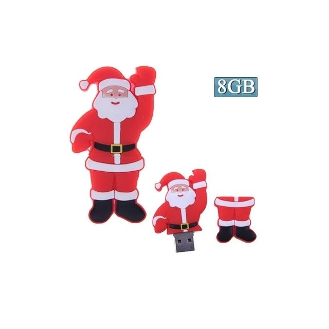 Clé Usb Noel Clé Usb Disque Flash Usb Père Noël 8Go Ach 246269 Wewoo Achat dans
