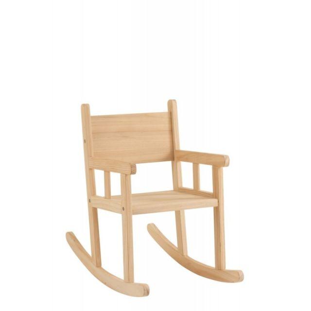 J-line Chaise à Bascule Enfant Bois De Pin Naturel