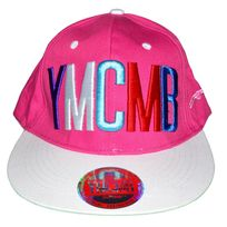 Ymcmb - Casquette Snapback - Taille Réglable - Rose Multi