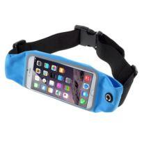 Amahousse - Ceinture sport bleue pour iPhone 6s Plus tissu imperméable et trou pour écouteurs