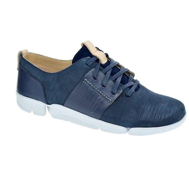nouveau style vente chaude authentique limpide en vue Clarks - Chaussures Femme Baskets basses modele Tri Caitlin ...