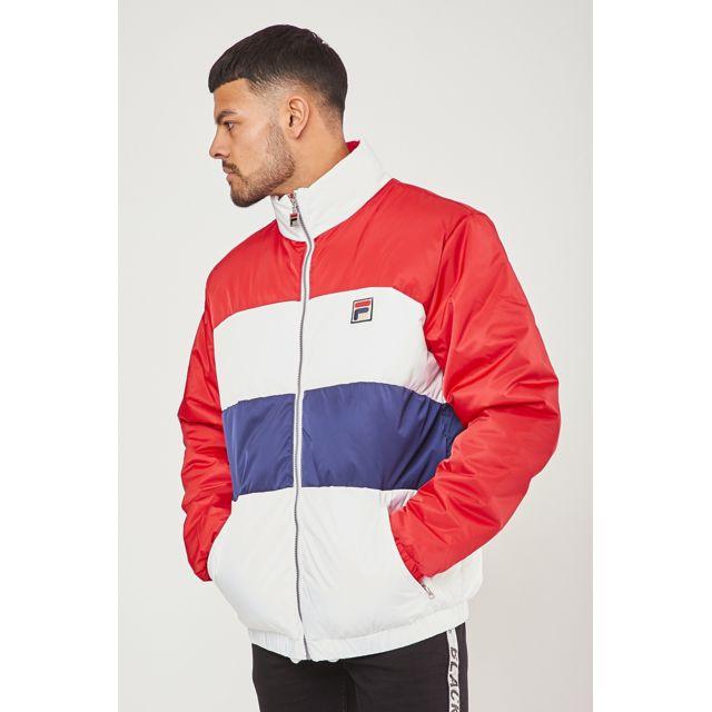 Fila Neo Colour Blocked Puffa Jacket au meilleur prix sur
