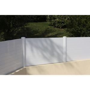 sonnier bois panneaux menuiserie hossegor kit cl ture pvc hauteur 1 30m vendu au m tre. Black Bedroom Furniture Sets. Home Design Ideas