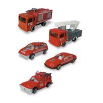 John World - Véhicules de pompiers : Coffret de 5 véhicules de secours