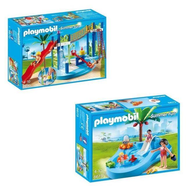 Playmobil Pack Le Parc Aquatique 3 Pas Cher Achat Vente