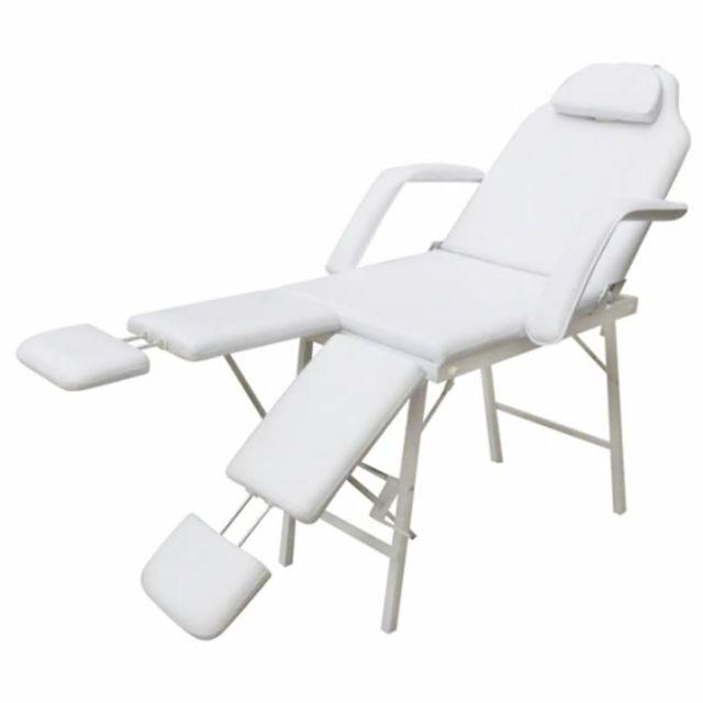 Superbe Massage et relaxation collection Kuala Lumpur Fauteuil de podologie blanc crème inclinable et pliant