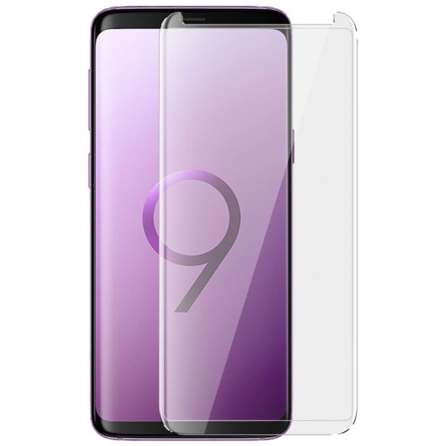 dd2aa1076c53c5 Avizar - Film Verre Integral Transparent Samsung Galaxy S9+ S9 Plus  Protection Vitre Verre Trempe Incurve
