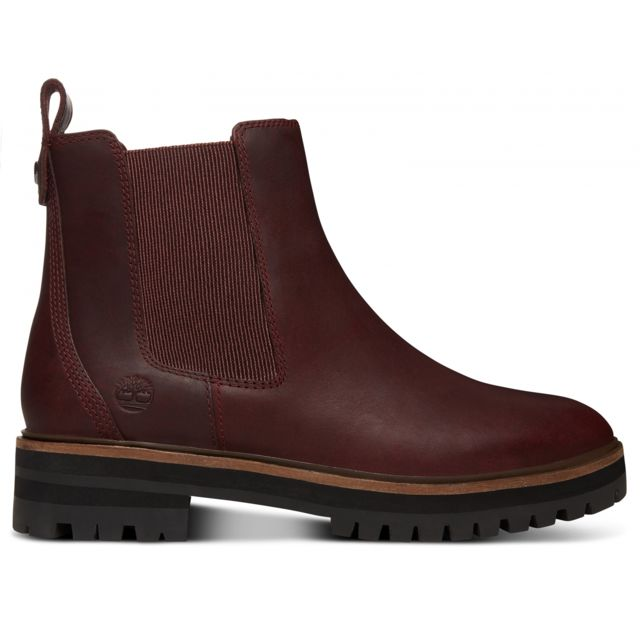 a8cac887fbd Timberland - Bottines London Square Chelsea Burgundy - pas cher Achat    Vente Baskets femme - RueDuCommerce