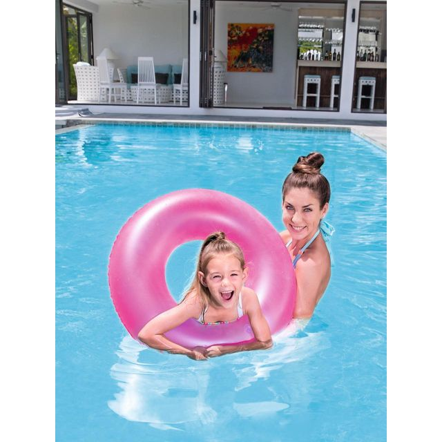 Best Way - Bouée gonflable baignade Bestway Frosted swim ring pink Rose 58050