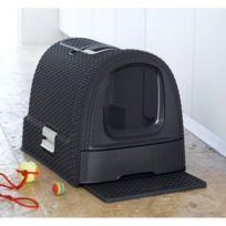 Curver - Maison de toilettes pour chat anthracite