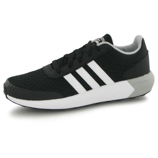 mixte mode baskets neo Race pas Cloudfoam cher noir Adidas XYfwHx4qf