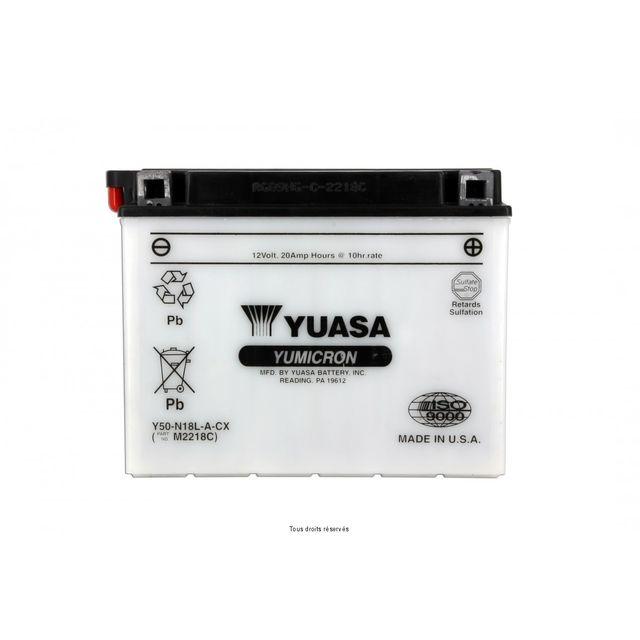yuasa batterie y50 n18l a pas cher achat vente batteries rueducommerce. Black Bedroom Furniture Sets. Home Design Ideas