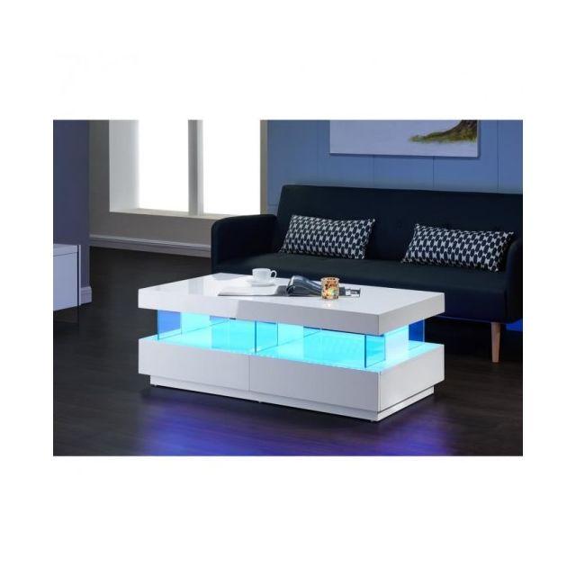 Light Basse Table Led Blanc Usines Brillant Discount 120cm Laquée QrBtshdCx