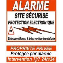 Cfp Securite - Stick-8 - 6 autocollants dissuasifs d'alarme pour porte, fenêtre et portail