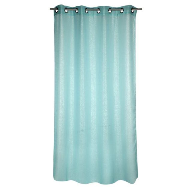 rideau en voile luciole bleu brillant x cm nc pas cher achat vente voilage. Black Bedroom Furniture Sets. Home Design Ideas