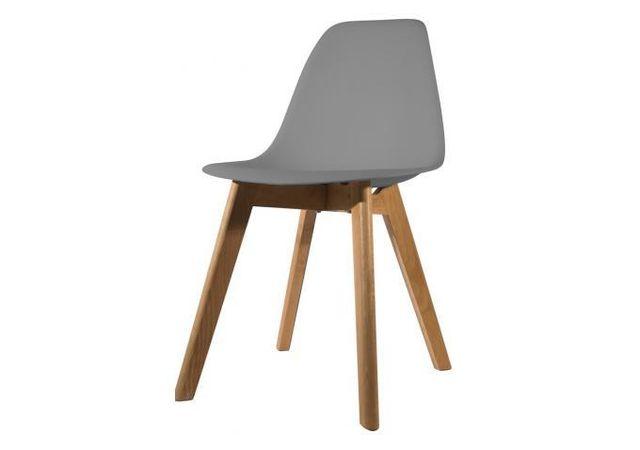 declikdeco chaise scandinave coque grise fjord pas cher achat vente chaises rueducommerce. Black Bedroom Furniture Sets. Home Design Ideas