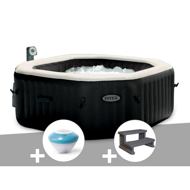 intex spa gonflable purespa octogonal bulles et jets 4. Black Bedroom Furniture Sets. Home Design Ideas
