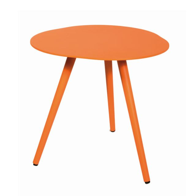 gecko jardin table d 39 appoint en alu orange spezia sebpeche31. Black Bedroom Furniture Sets. Home Design Ideas