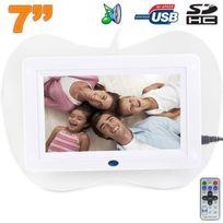 Yonis - Cadre photo numérique 7 pouces Carte Sd Usb Lecteur Mp3 pomme Blanc